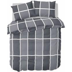 Nightlife - Dekbedovertrek - Shades of grey - Flanel - Grey