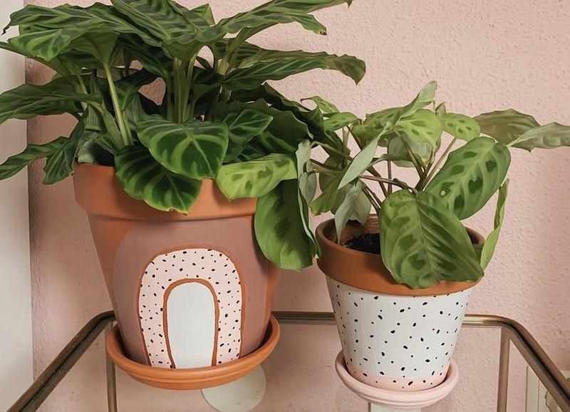 DIY: geverfde terracotta plantenpot