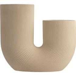 Storefactory vaas keramiek beige (24 centimeter x 7 centimeter x 21 centimeter)