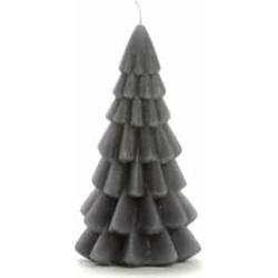 """Rustik Lys """"Kerstboom kaars 12x6.3cm"""" Antraciet -"""