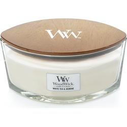 Woodwick White Tea & Jasmine  ellips kaars