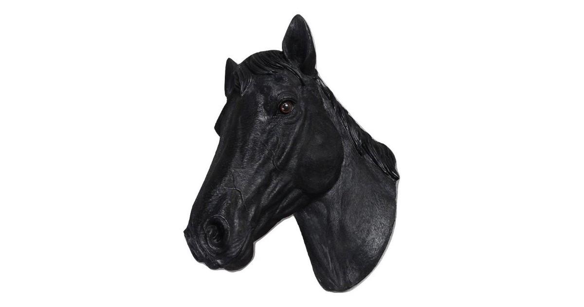 Paardenhoofd Wanddecoratie -Paard - Zwart - Paardenhoofd Zwart 15x21x31