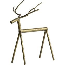 Rudolph Metalen Hert Antique Brass Xl