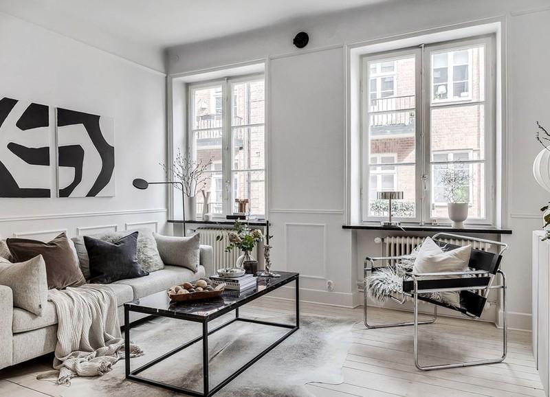 Binnenkijken: Zweeds appartement met een neutraal kleurenpalet