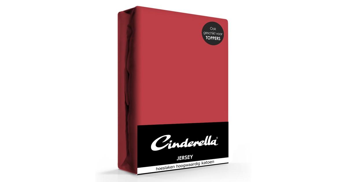 Cinderella Jersey Hoeslaken Rood-180 x 200 cm