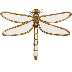 muurdecoratie dragonfly mirror small 37 x 27 x 3.5