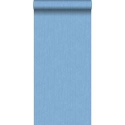 ESTAhome behang denim structuur blauw
