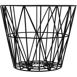 Ferm Living Wire Opbergmand Zwart - Ø 40 cm