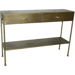 PTMD Simple metal gold sidetable 121x30x80cm