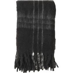 Nordal Plaid Black Checks Mohair Look 170x130