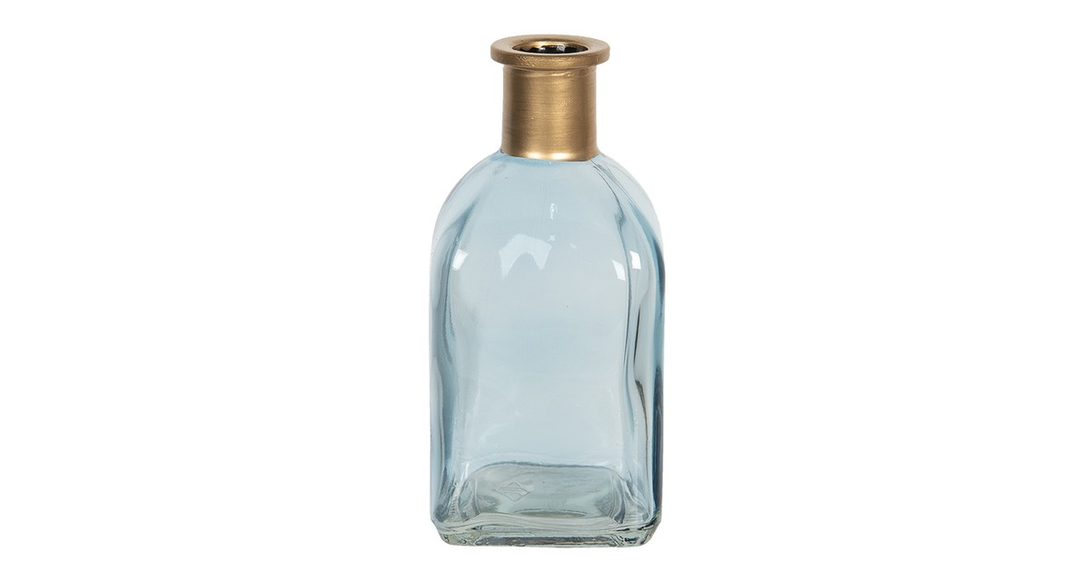 Clayre & Eef Vaas - 6* 6*13 cm - blauw - glas - vierkant -  - 6GL2943BL