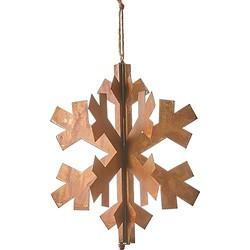 House of Seasons Ornament Sneeuwvlok Metaal Roest - 27 x 32 cm