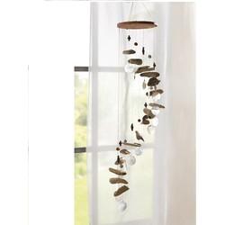 Windgong drijfhout met schelpen
