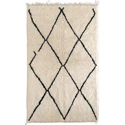 Poufs&Pillows Traditioneel Berber vloerkleed Beni Ourain - 190x125 cm - handgeknoopt