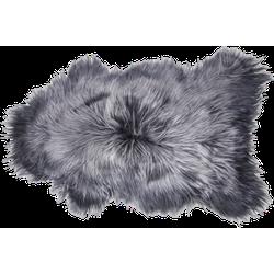IJslands schapenvacht langharig - ±100x70cm - steel
