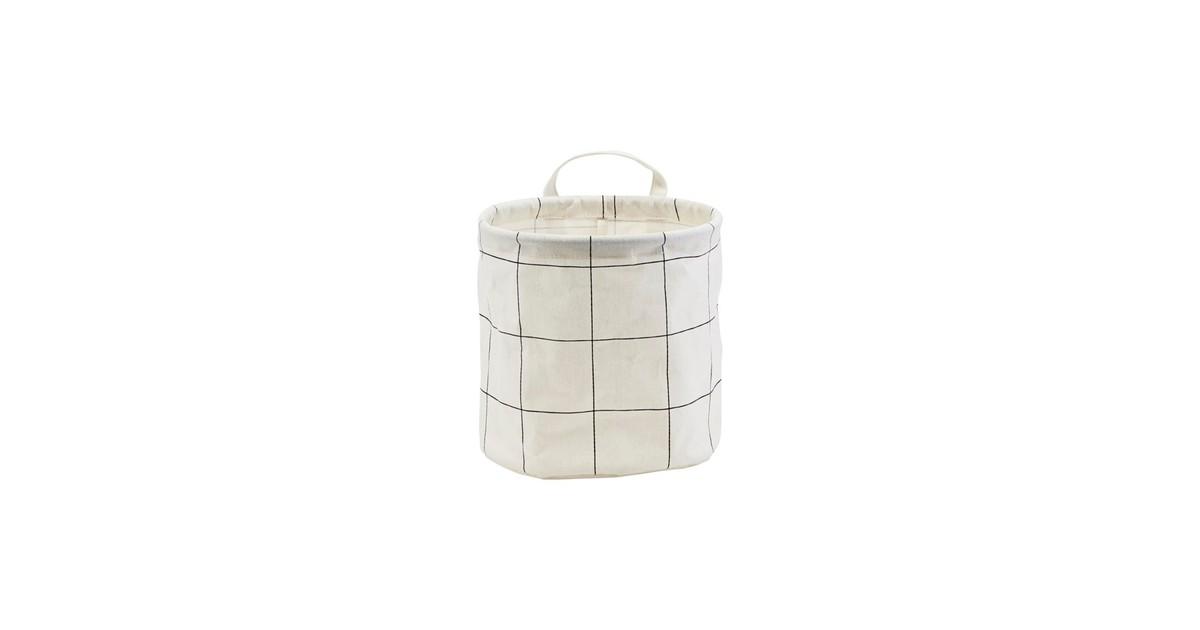House Doctor Mand Squares wit zwart 20cm