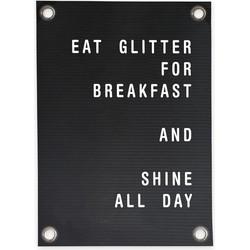 Tuinposter Letterbord Eat Glitter (70x100cm)