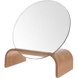 HKliving spiegel op standaard wilgenhout