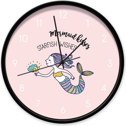 Klok mermaid roze -  / zwart
