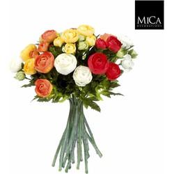 Mica Decorations ranonkel boeket maat in cm: 30 oranje