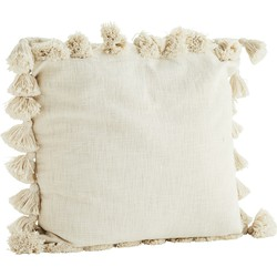 kussenhoes tassels off white 65 x 65