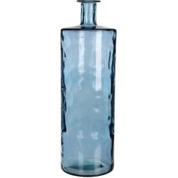 Mica Decorations guan glazen fles blauw maat in cm: 75 x 25