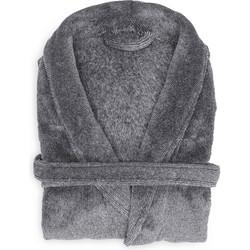 Badjas Mel dark gull grey - 100% Polyester