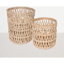 Basket Banana Leafs, Set of 2