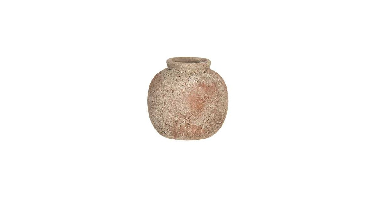 Clayre & Eef Vaas - Ø 8*8 cm - bruin - keramiek - rond -  - 6CE1213