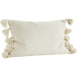 kussenhoes tassels off white 40 x 60