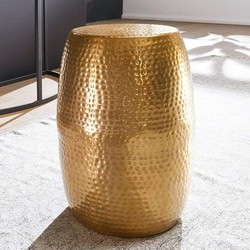 Nancy's bijzettafel - Gouden aluminium salontafel - Designer tafel