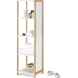 Bamboe opbergkast met spiegel
