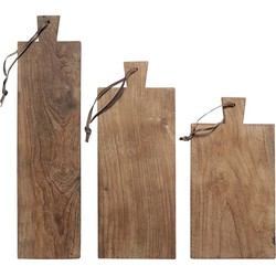 HKliving broodplanken gerecycled teakhout (set van 3)