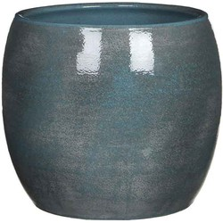 Mica Decorations lester pot rond blauw maat in cm: 22 x 24