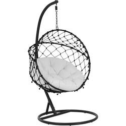 J-Line Hangstoel Round Zwart 101 x 66 x 97