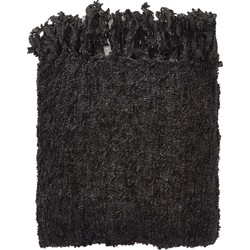 Plaid Fedde 130x180 cm zwart