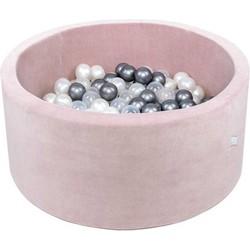 Misioo Ballenbak XL Rond 90x40 | Velvet Pink