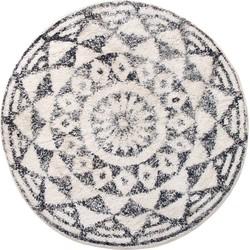 HKliving badmat rond zwart wit ø80 cm