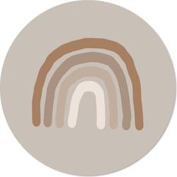Muurcirkel kids regenboog beige - 30 cm