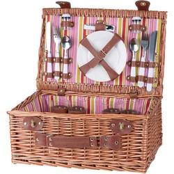 Cosy&Trendy Picknickmand incl servies voor 4 personen