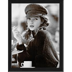 Kate Moss - Fotoprint in houten frame - 30 X 40 X 2,5 cm