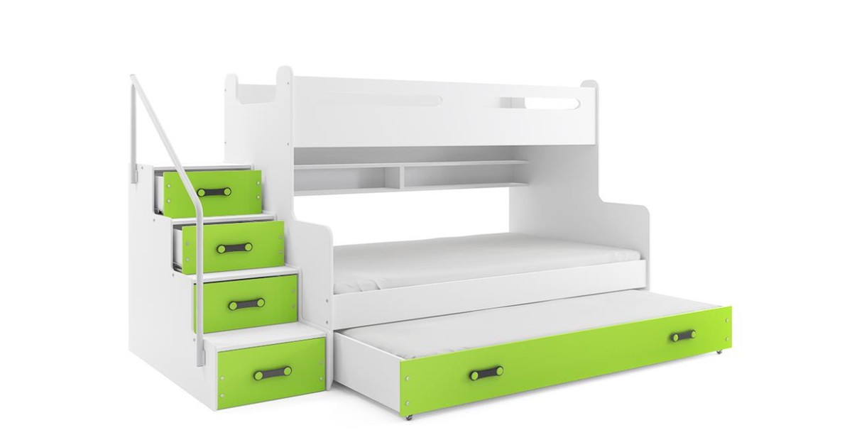4 Persoons Design Stapelbed Groen   Perfecthomeshop