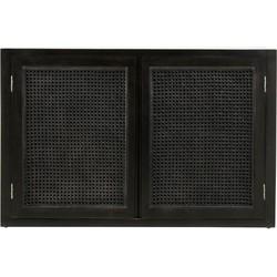 wandkast buffet zwart 65 x 100 x 35