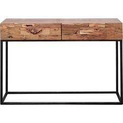 Industry Sandblast - Sidetable - acacia - gezandstraald - metalen frame - 2 lades - L 110cm