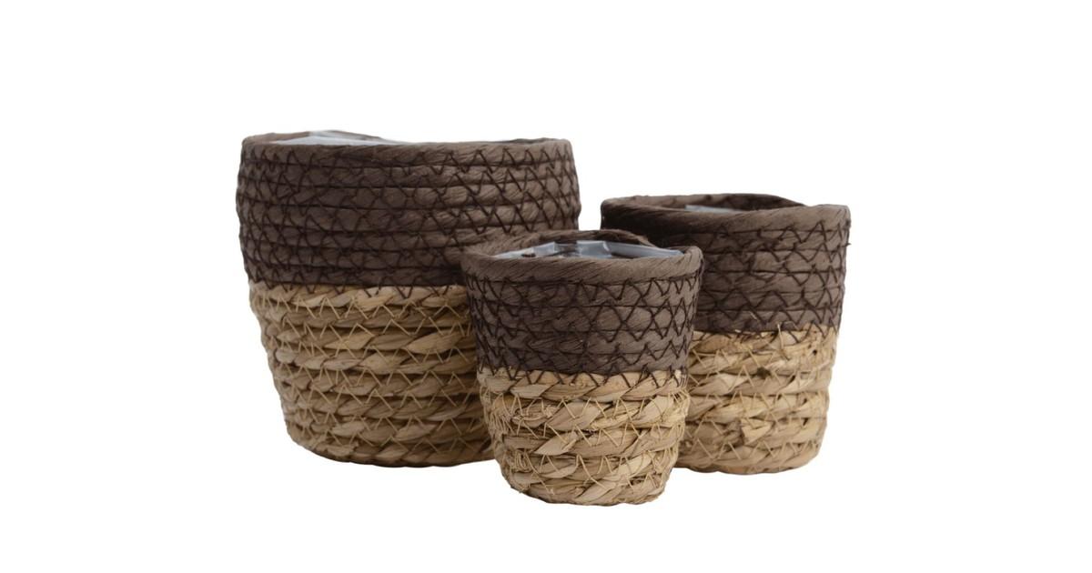 Basket grass d8h7.5cm dark brown