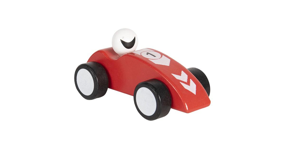 Clayre & Eef Decoratie auto 14 cm rood 64421R