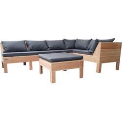 Wood4you - Loungeset 9 Douglas 200x240 cm - incl kussens GL-opstelling