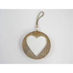 Ornament Slice Heart 10 cm