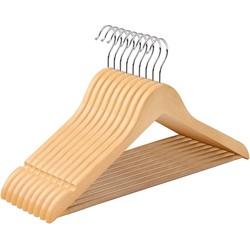 Nancy's Maple Wood Kleerhangers -  20 Stuks - 360 Graden Hanger - Kleerhanger Jas, Broek  - Kledinghangers
