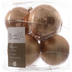 Kerstbal Glas 8cm Cafe Latte